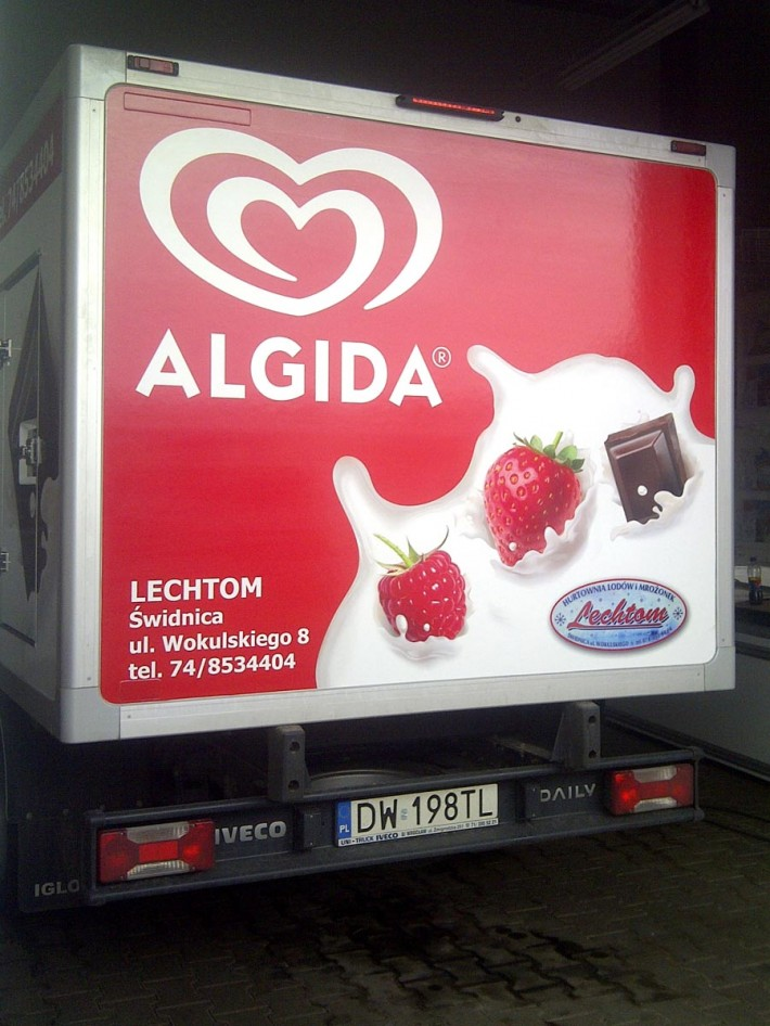 Chłodziarka ALGIDA firmy LECHTOM - realizacja Agencja Reklamowa GEOSPACE