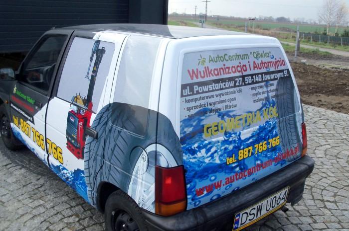 """Oklejanie samochodów dla myjni samochodowej """" Oliwka """" – Agencja Reklamowa Geospace"""