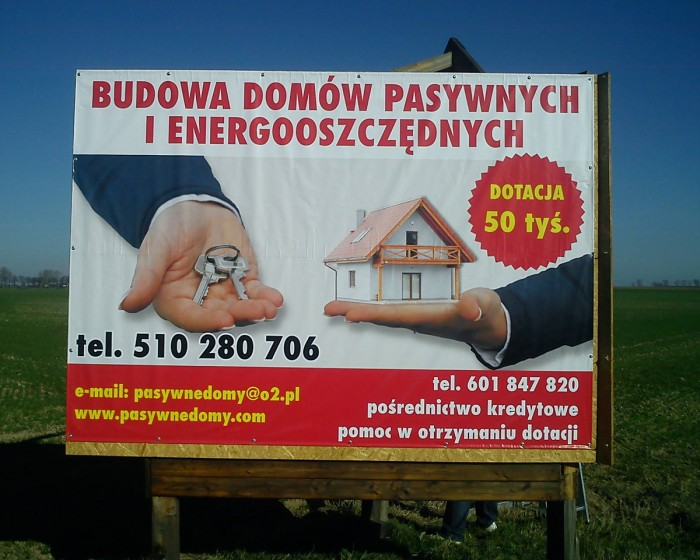 Wykonanie banerów dla domów pasywnych – Agencja Reklamowa Geospace